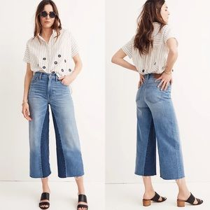 Madewell Wide-Leg Crop Jeans: Gusset Edition